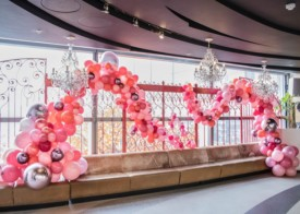 Pink organic balloon design