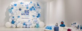 Oilatum New Product Launch Balloon Wall